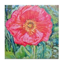 Pink Poppy Tile Coaster
