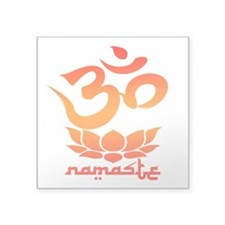 Namaste Symbol (Warm Red Version) Sticker