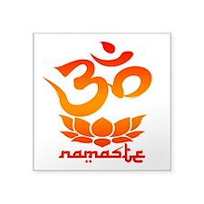 Namaste Symbol (Warm Red Version) Sticker
