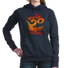 Namaste Symbol (Warm Red Version) Women's Hooded S