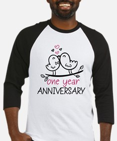 1st Anniversary Cute Couple Doodle Baseball Jersey