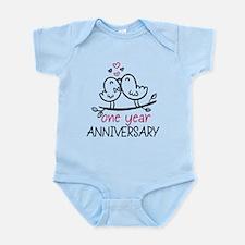 1st Anniversary Cute Couple Doodle Infant Bodysuit