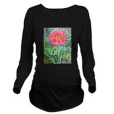 Pink Poppy Long Sleeve Maternity T-Shirt