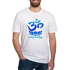 Namaste Symbol (Cool Blue Version) T-Shirt