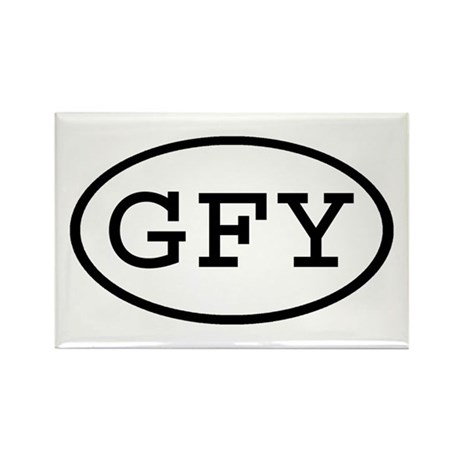 GFY Oval Rectangle Magnet (10 pack)