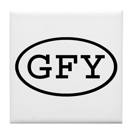 GFY Oval Tile Coaster