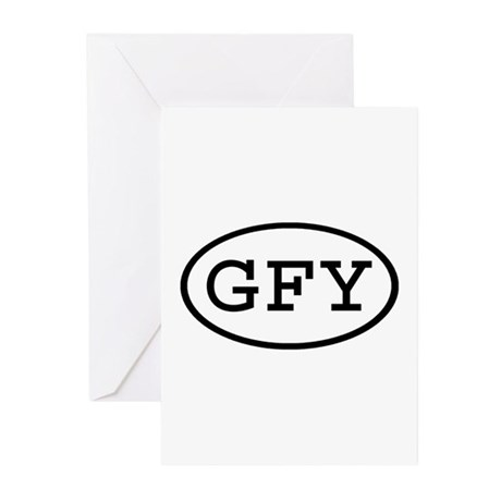 GFY Oval Greeting Cards (Pk of 20)