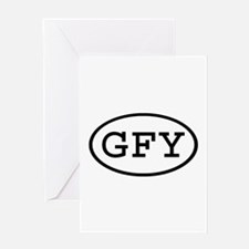GFY Oval Greeting Card