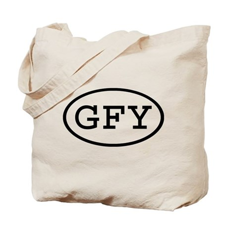 GFY Oval Tote Bag