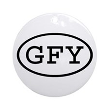 GFY Oval Ornament (Round)