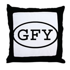 GFY Oval Throw Pillow