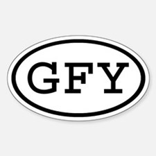 GFY Oval Oval Decal
