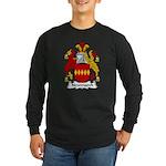 Newmarch Family Crest Long Sleeve Dark T-Shirt