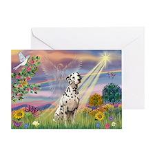 Mona Lisa (new) & Dalmatian Greeting Card