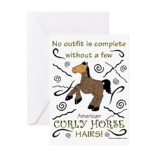 Curly Hairs Outfit Greeting Card