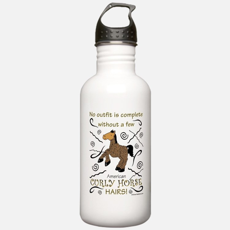 Curly Hairs Outfit Water Bottle