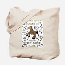 Curly Hairs Outfit Tote Bag