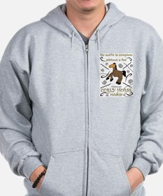 Curly Hairs Outfit Zip Hoodie