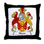 Newe Family Crest Throw Pillow