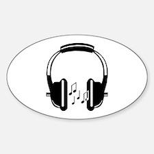 Headphone Oval Decal