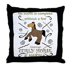 Curly Hairs Outfit Throw Pillow