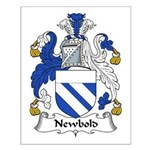 Newbold Family Crest Small Poster