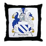Newbold Family Crest Throw Pillow