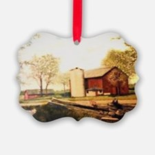 Barn With Painting Ornament