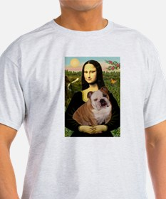 Mona Lisa & English Bulldog T-Shirt