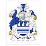 Newarke Family Crest Small Poster