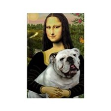 Mona & English Bulldog Rectangle Magnet