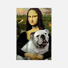 Mona & English Bulldog Rectangle Magnet