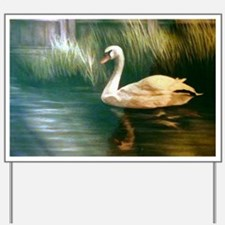 Swan Painting Yard Sign