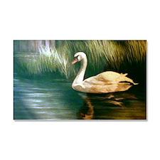 Swan Painting Car Magnet 20 x 12