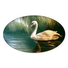Swan Painting Decal
