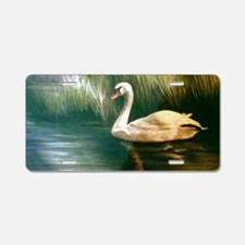 Swan Painting Aluminum License Plate