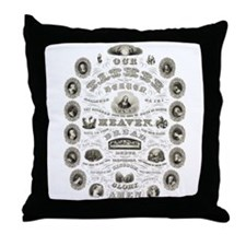Cute Square and compasses Throw Pillow