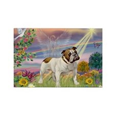 Cloud Angel & English Bulldog Rectangle Magnet