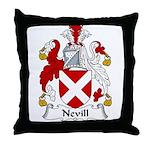 Nevill Family Crest Throw Pillow