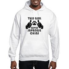 This Girl Loves Japanese Chins Hoodie