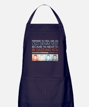 Modern Family Denim Vest Apron (dark)