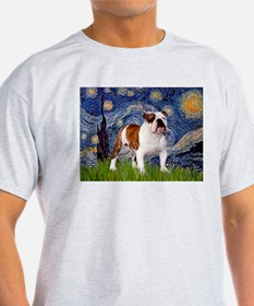 Starry Night English Bulldog T-Shirt