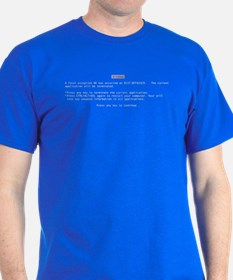 Blue Screen of Death! T-Shirt