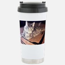 Traveling Cat on a Suit Travel Mug