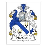 Needham Family Crest Small Poster