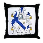Needham Family Crest Throw Pillow