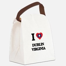I love Dublin Virginia Canvas Lunch Bag