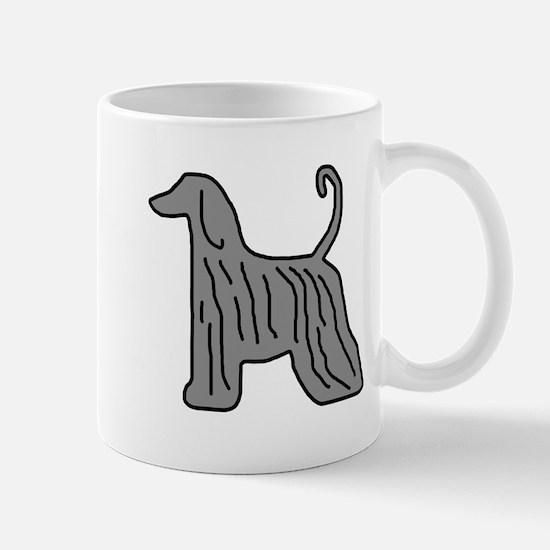 Grey Afghan Hound Mug