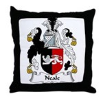Neale Family Crest Throw Pillow