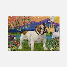 English Bulldog Fantasyland Rectangle Magnet